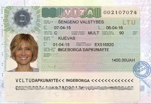 Aria Dolce Ариа Дольче Виза в Литву